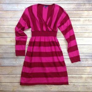 GapKids V neck striped long sleeve sweater dress